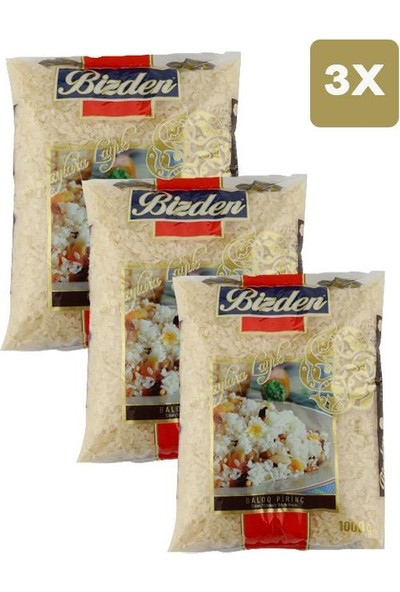 Bizden Lüx Baldo Pirinç 1 kg x 3'lü