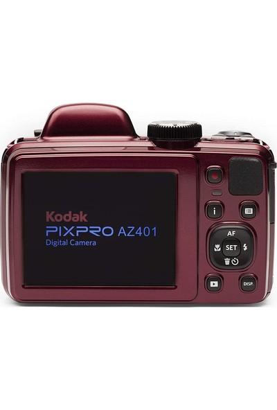 Kodak Astro Zoom AZ401/40X Yakınlaştırma Dijital Fotoğraf Makinesi-Kırmızı