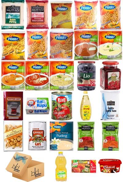 Blueden Ramazan Paketi Kumanya Gıda Paketi Erzak Yardım Hediye Paketi 28 Parça 137 Nolu Paket
