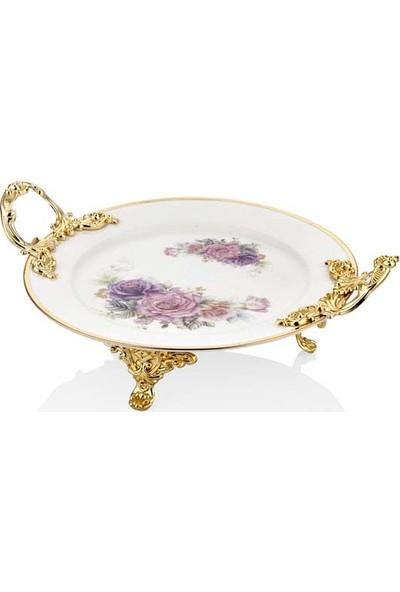 Lamedore Lmdr Gold Rose Pınk Daire Tabak 30,5 cm.