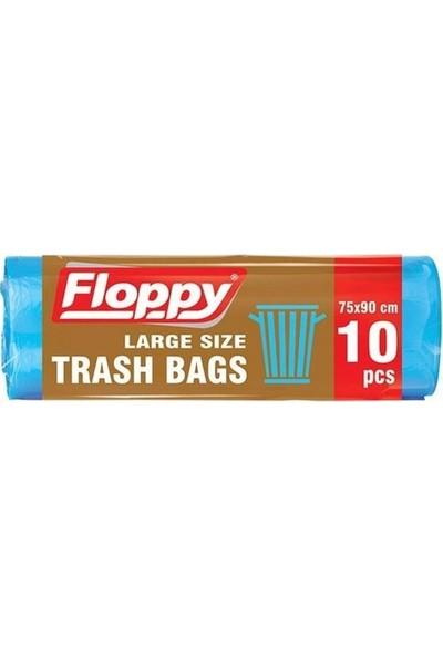 Floppy Battal Boy Çöp Torbası 75 x 90 cm 10'lu x 6