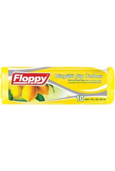 Floppy Büzgülü Kokulu Çöp Torbası 55 x 60 cm 10'lu x 6