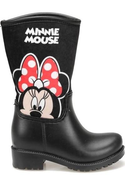 Minnie Mouse Mickey Mouse Siyah Kız Çocuk Yağmur Çizmesi