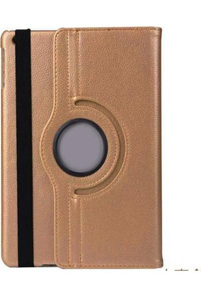 CoverZone Samsung Galaxy Tab A7 10.4 Inç T500-T505 360° Rotating Stand Tablet Kılıfı Gold