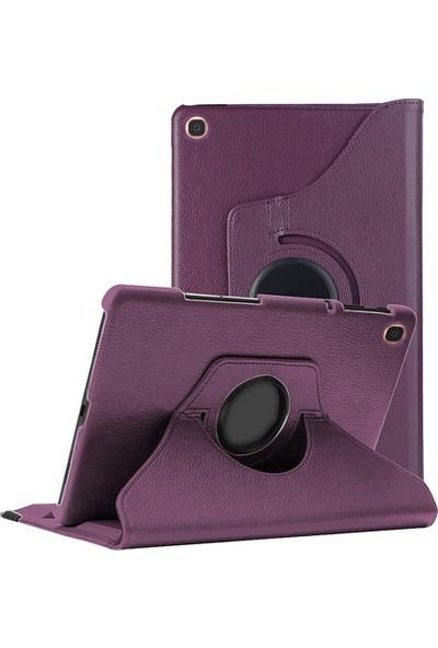 CoverZone Samsung Galaxy Tab A7 10.4 Inç T500-T505 360° Rotating Stand Tablet Kılıfı Mor