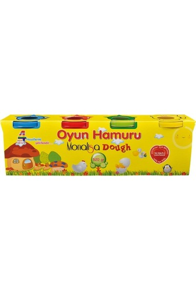 Monalisa Oyun Hamuru 480 gr 4 Renk SD244
