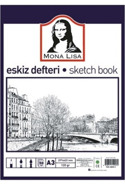 Mona Lisa Monalisa Eskiz Defteri 50 Yp 120 gr A3 BN05-3