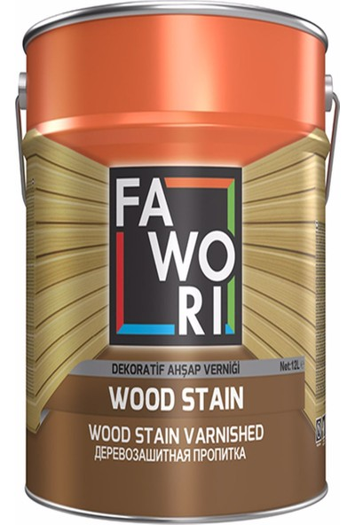 Fawori Wood Stain Dekoratif Ahşap Verniği 2,5 L Açık Meşe