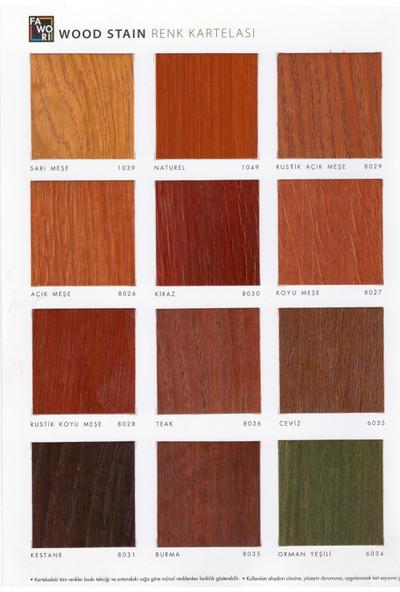Fawori Wood Stain Dekoratif Ahşap Verniği 2,5 L Rustik Koyu Meşe