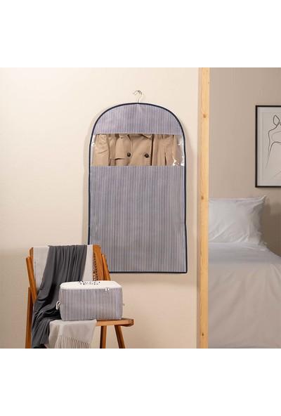Ocean Home Lacivert Çizgi Desen Elbise Kılıfı 60 x 100