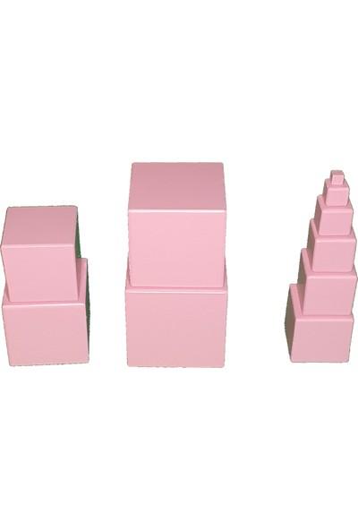 Kırtkırt Ahşap Montessori Pembe Kule