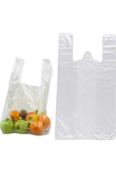 Hoşgör Plastik Hışır Atlet Poşet Market Manav Kiloluk Orta Boy (10 Paket/10 Kg)