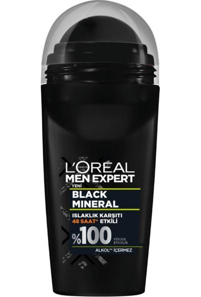 L'oréal Paris Men Expert Black Mineral Islaklık Karşıtı Roll On 50 ml