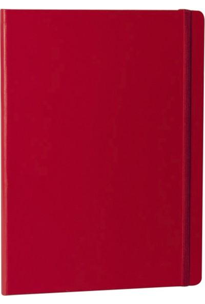 Fabio Ricci Elio Kareli Defter 19 x 25 cm Kırmızı