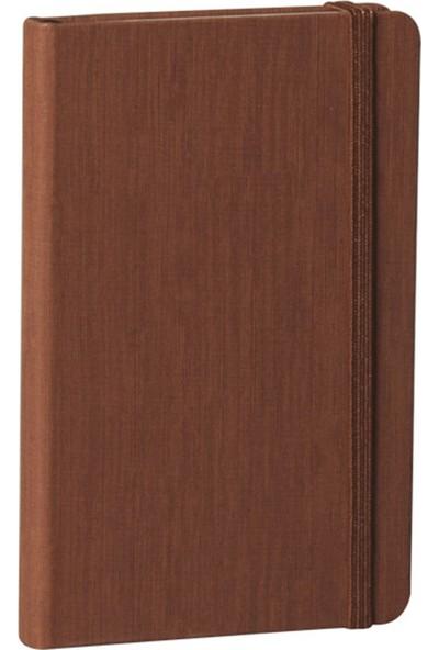 Fabio Ricci Lepidus Kareli Defter 9 x 14 cm Koyu Kahverengi