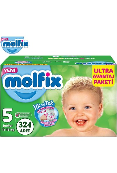Molfix Bebek Bezi Ultra Avantaj Beden:5 (11-18KG) Junior 324 Lü