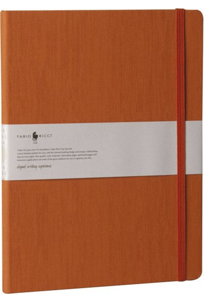 Fabio Ricci Lepidus Noktalı Defter 19 x 25 cm Turuncu