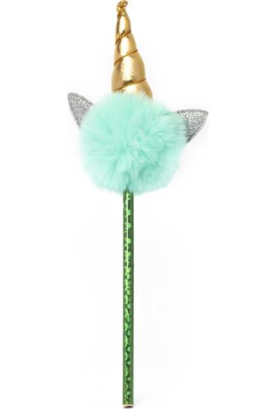 Vuki Ponponlu Unicorn Kurşun Kalem Yeşil