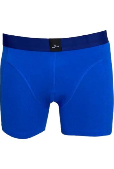 Fit and Size Erkek 3'lü Paket Bambu Rahat Düz Renk Boxer
