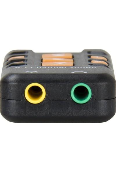 Alfais 4753 Harici 8.1 Kanal USB Çevirici 3.5mm Mikrofonlu Ses Kartı