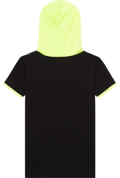 First Kids Nanu Siyah Erkek Çocuk Kapşonlu T-Shirt