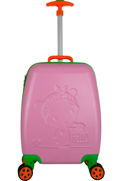 Wexta Disney Serisi 410 Pembe Kız Çocuk Valizi
