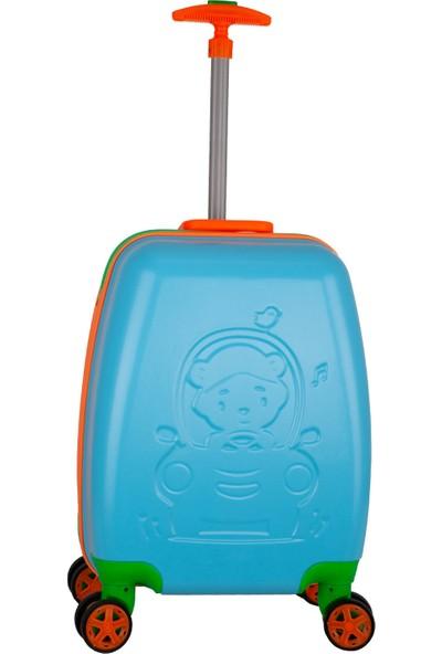 Wexta Disney Serisi 411 Mavi Erkek Çocuk Valizi