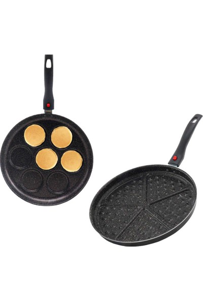 Papilla 2'li Pankek Waffle Tava Seti