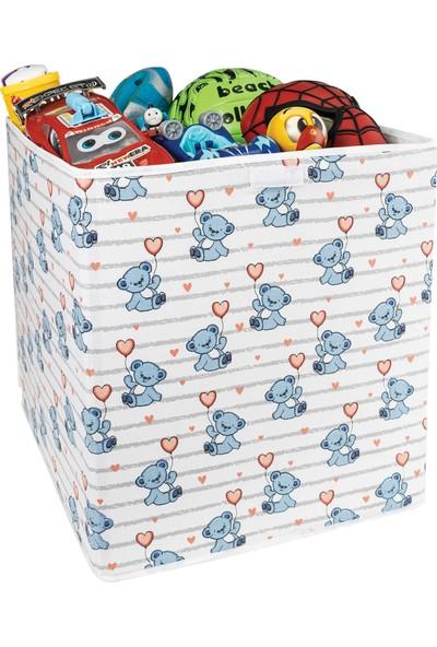 Lumier Büyük Boy Kapaklı Oyuncak Kutusu Sepeti 40 x 40 x 45 cm