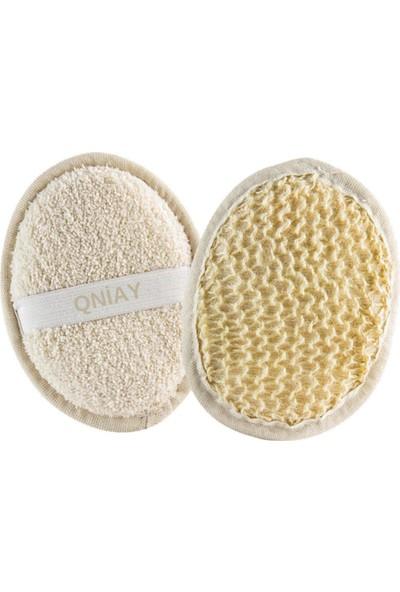 Qniay Yüz Vücut Kesesi Peeling Oval Yüz Vücut Yıkama Pedı Arındırıcı Doğal Banyo Lifi