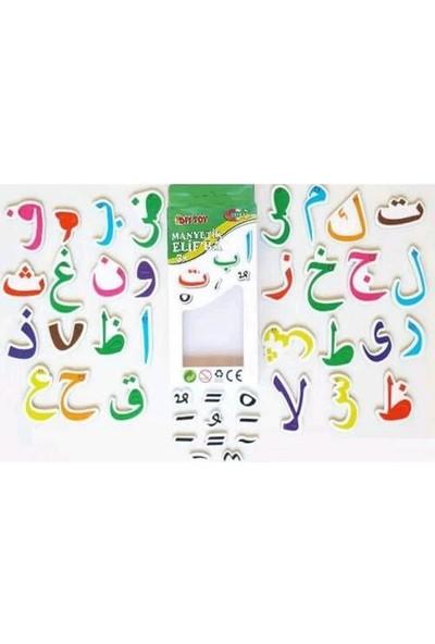 Hobialem Diytoy, Manyetik Elif Ba, 40 Parça, Arapça Alfabe,magnet Figürler, Mıknatıslı