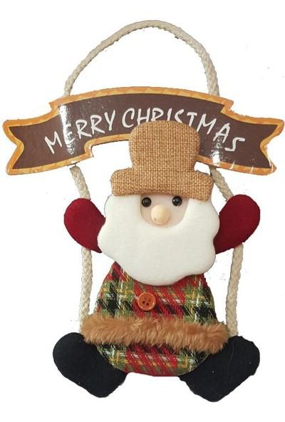 Pandoli Merry Christmas Yazılı Noel Babalı Kapı Süsü Asmalı