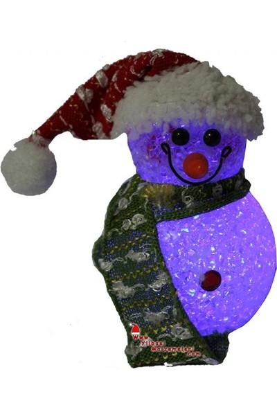 Pandoli Küçük Boy Işıklı Kardan Adam Figürlü Yılbaşı Dekor Süs 11 cm