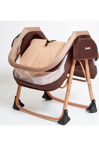 Joell 1730 Alüminyum Katlanır Anne Yanı Bebek Sepet Beşik Chubby Baby