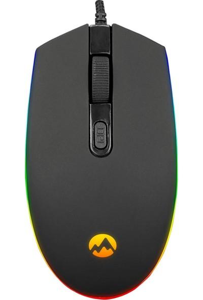 Everest SM-GX66 USB Siyah Rgb Işık Efektli Gaming Oyuncu Mouse