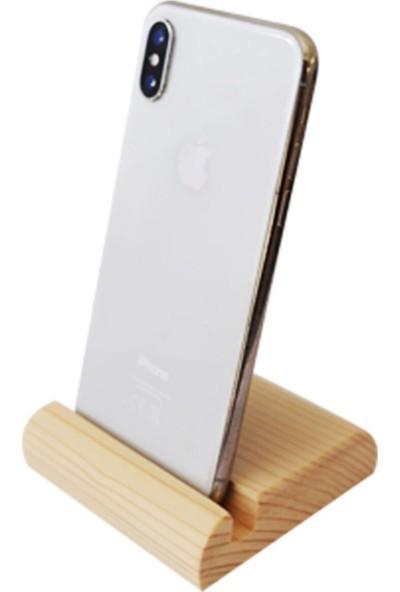 Pembe Karınca Masaüstü Ahşap Telefon Tutucu Stand