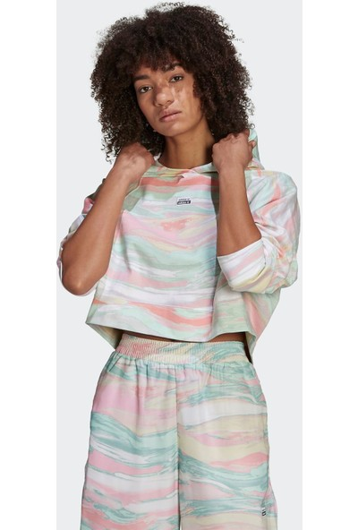 Adidas Kadın Günlük Sweatshirts GN4292 Cropped Hoodie