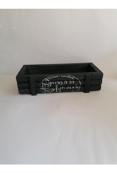 Baykon Masif Dekoratif Kasa 30X13 cm Siyah