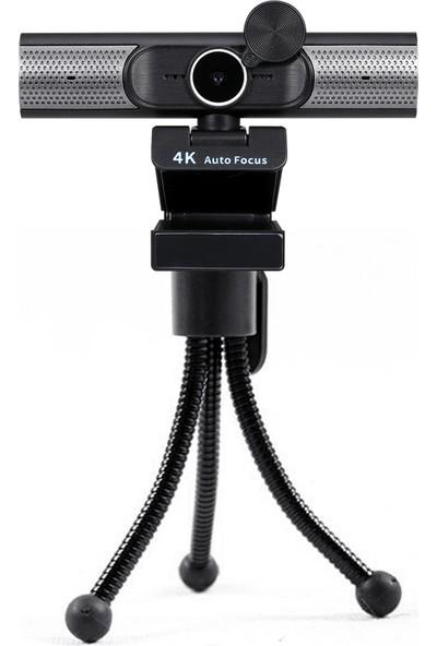 Buyfun 4K Web Kamerası Af Otomatik Odaklama Web Kamerası Dahili Siyah (Yurt Dışından)