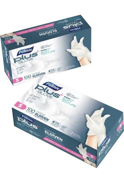Polmix Plus Glove Şeffaf Pudrasız Eldiven Nano Tech 100'LÜ Small