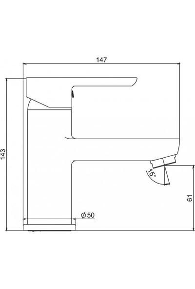 Nsk Legna Plus Lavabo Bataryası Krom N3014602