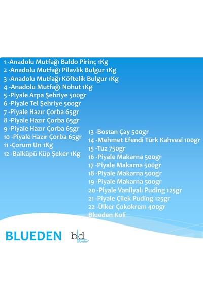 Blueden Ramazan Paketi Kumanya Gıda Paketi Erzak Yardım Hediye Paketi 22 Parça 134 Nolu Paket