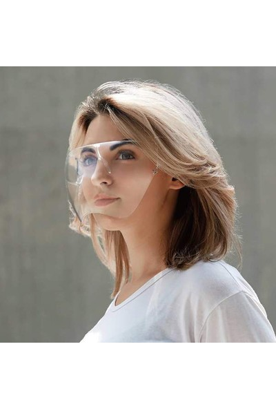 Medizer Novid Süper Gözlük Tipi Koruyucu Yüz Siperliği