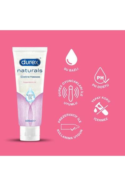 Durex Naturals Prezervatif Paket 20'li + Naturals Ekstra Hassas Jel 100 ml