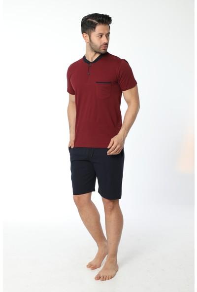 Öztaş Erkek Taplı Kısa Kol Şortlu Süprem Pijama Takım 12036-A
