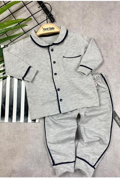 Papyon Baby Kids Yakalı Ön Taraf Çıtçıtlı Erkek Bebek Pijama Takım