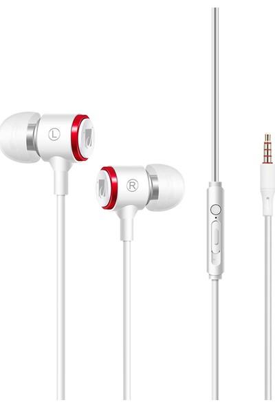 JABRON JB-19 Pro Mikrofonlu Kablolu Kulak Içi Kulaklık + Özel Taşıma Çantası