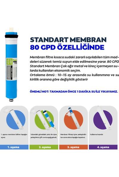 Hanedan Kapalı Kasa Su Arıtma 7li 12 Aşamalı Filtre Seti 80 Gpd Membranlı (Quick Bağlantı)