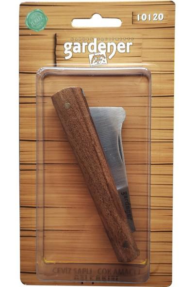 Gardener 10120 Ceviz Saplı Karbon Çelik Çok Amaçlı Aşı Bıçağı Aşı Çakısı