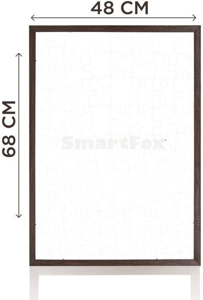 Smartfox Puzzle ve Yapboz Çerçevesi 1000 Parça Için 68CMX48CM Ebatında Kahverengi